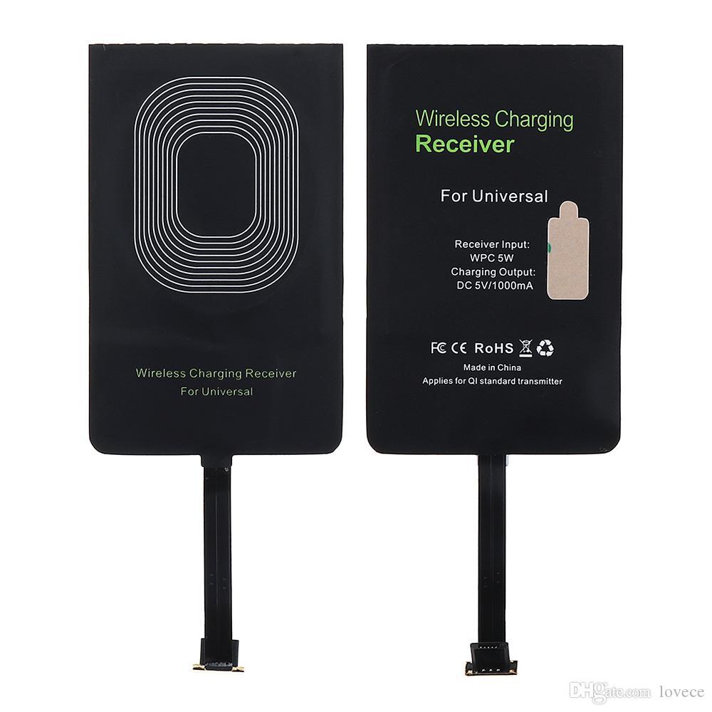 5V 1000mA actual WPC 5W cargador de carga inalámbrica para el módulo receptor androide universal de teléfono móvil micro-USB Interfaz CHA_116