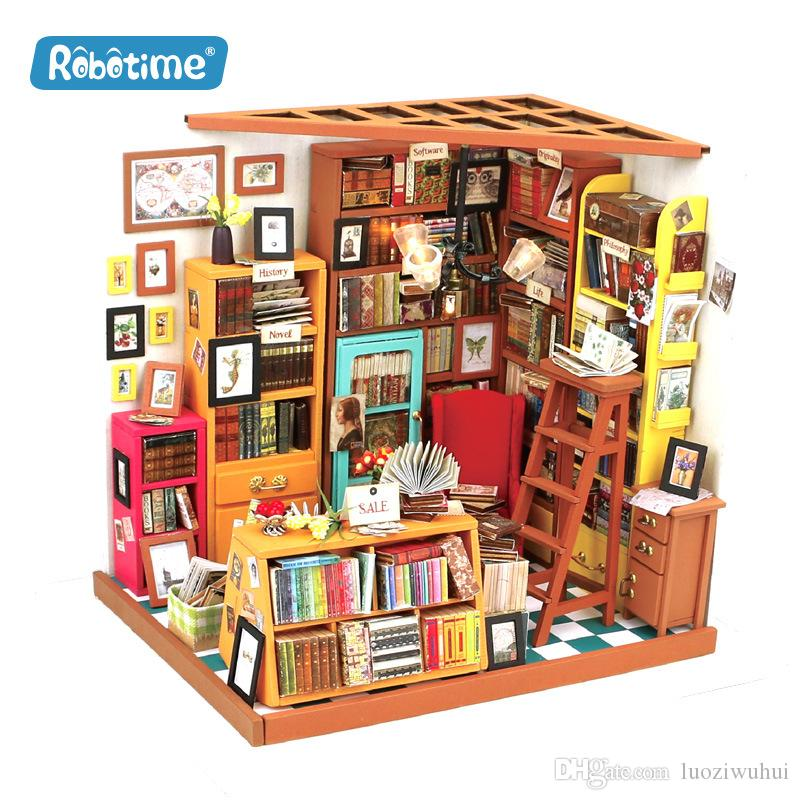 Western-style bookstore hand-assembled DIY cabin toys, creative products, wooden gifts, toys that can cultivate children's autonomy!