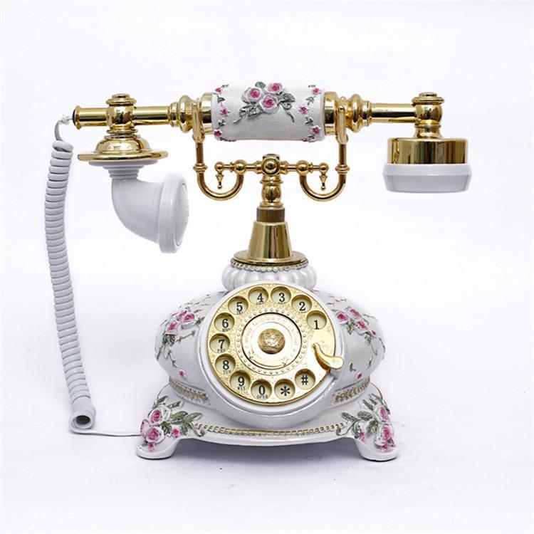 Fabrikaya, antika telefon, pikap, eski moda Avrupa tarzı, yaratıcı moda retro sabit hat 108