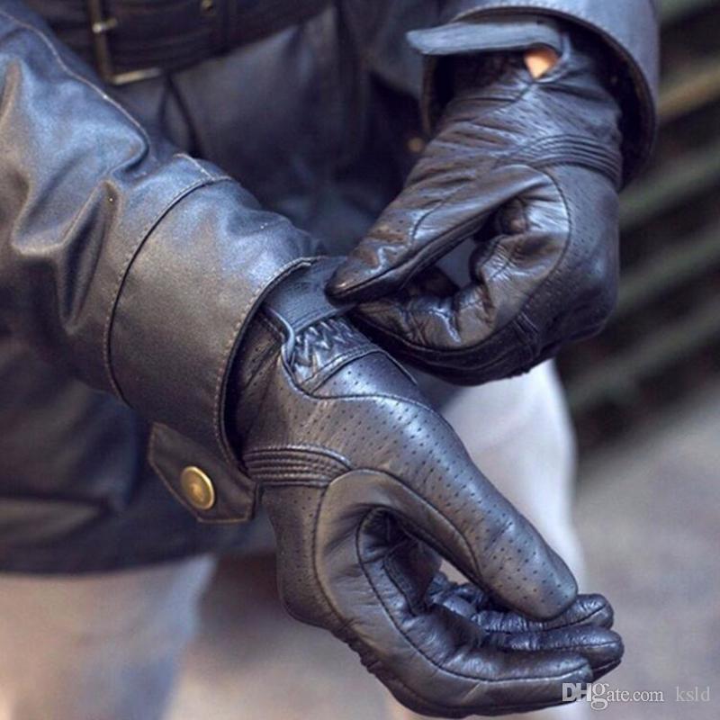 새로운 통기성 오토바이 장갑 블랙 정품 가죽 크로스 보호 Guantes 모토 GP 오프로드 장갑 남성 여성