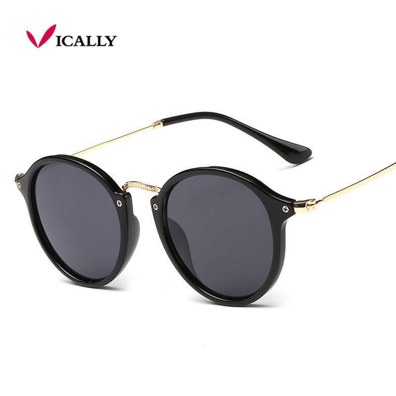 2017 Retro Male Round Sunglasses Women Men Brand Sun Glasses for Women Alloy Mirror Sunglasses Ray Ladies