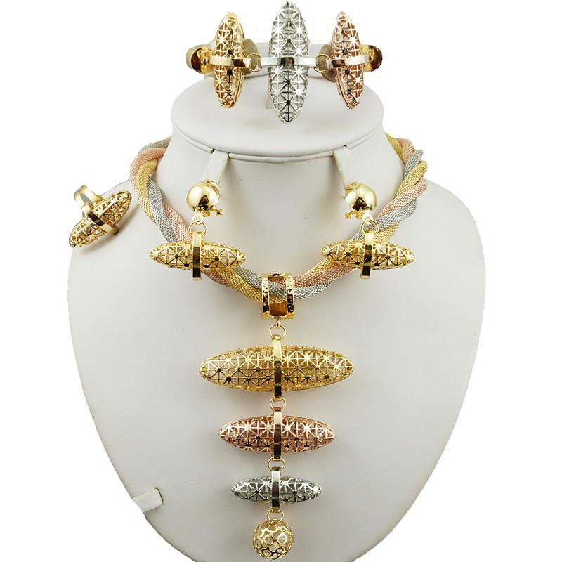 bijoux de mariée ensemble super qualité africaine gros bijoux ensembles meilleure qualité costume or ensemble femmes collier mariage ensembles