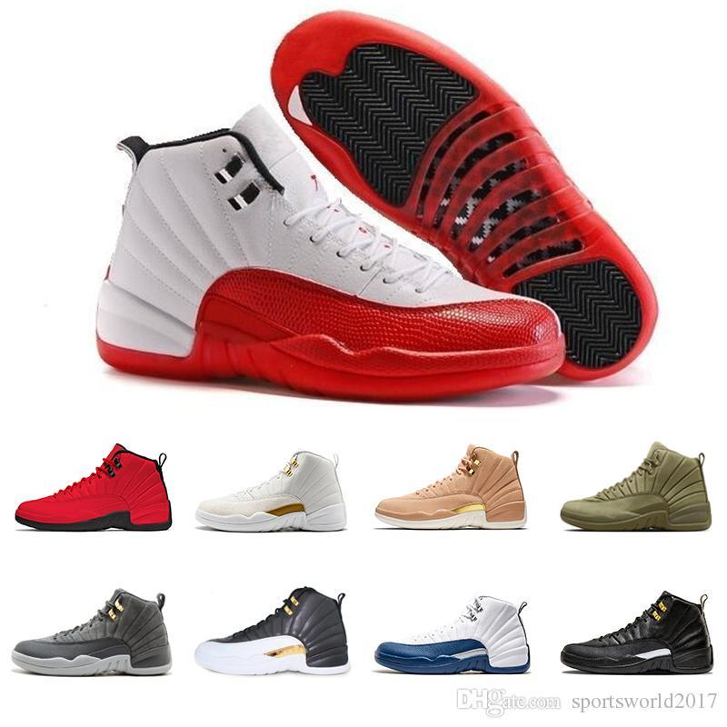 Retro Air Jordan 12 AJ12 Venda quente Sapatos De Basquete sneaker 12 12 s Esporte designer de sapato treinador WINGS Milan BLAck zapatillas Atlético desconto zapatillas frete grátis