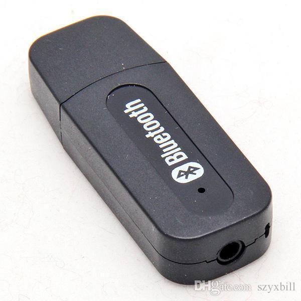 Mini-USB-Power Wireless Receiver Bluetooth-Stereo-Musik-Empfänger Dongle 3.5mm 5V Jack Audio-Lautsprecher für Handy Schwarz Weiß