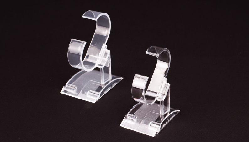 En plastique transparent Porte d'affichage Bijoux Bracelet Bague Montre Piètements Support à Vitrine Holder Stand