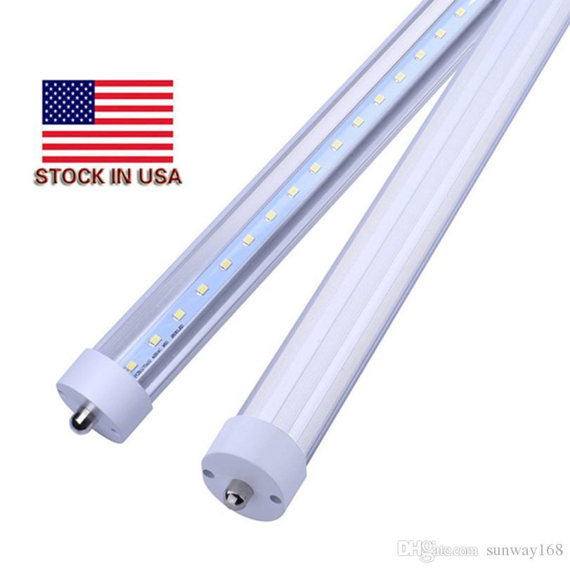 Pack of 25 LED 8 Foot Tube Light Bulb 6000K (Cool White) FA8 Single Pin, 100V-277V AC 45W - 4800Lm(90W Fluoresce),Shop Lights