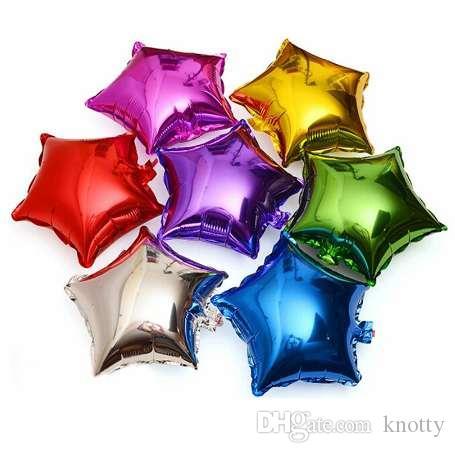 10 قطع 10 بوصة الخماسية نجمة الألومنيوم احباط بالون استحمام الطفل الأطفال عيد حفل زفاف ديكور لوازم البالونات الهواء