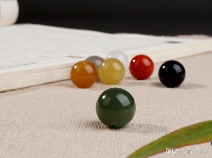 Bracciale a bocca Hetian Yulian Baiyu Jasper Sugar Blue e Yellow Jade