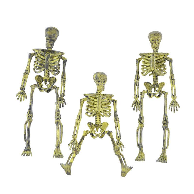 Nuevo Halloween Cráneo de Plástico Esqueleto Trompeta Cráneo Modelo Adornos Apoyos Simulación Decoración Humana Esqueleto de Halloween para el Hogar