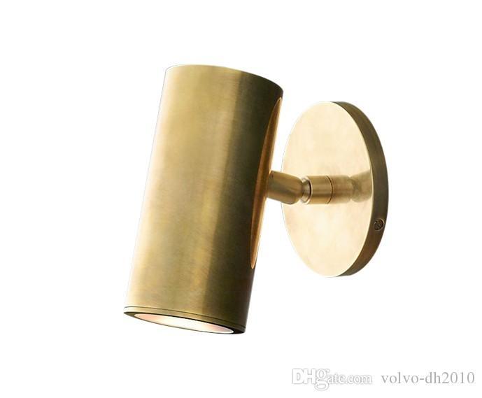 Американский бронзовый настенные лампы современные простой стиль личность нордический гостиная спальня коридор латунь настенный светильник LLFA