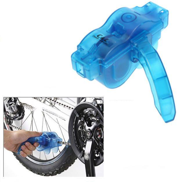 Pulitore della bicicletta portatile blu Pulitore della bici Pulire la macchina Spazzole Lavare l'attrezzo della lavata, Kit di pulizia della bicicletta di montagna