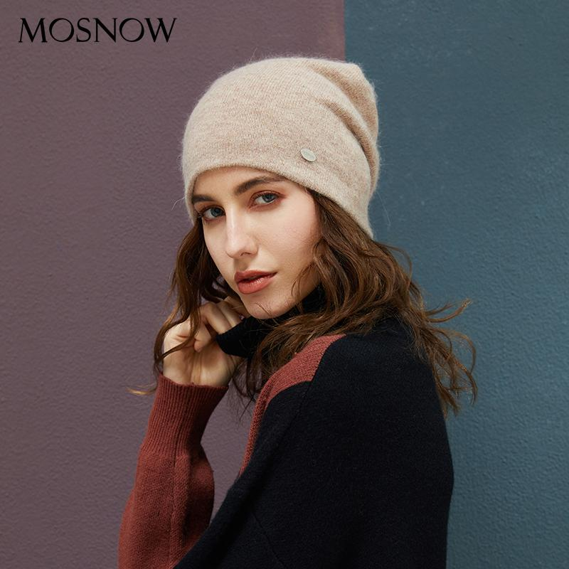 Female Beanies Rabbit Hair Winter Hats For Women Casual Autumn Knitted Beanie Girls 2018 New Fashion High Quality Soft Wool Hat Y18110503