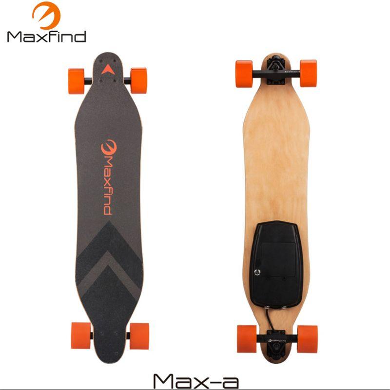 Maxfind الكهربائية لوح التزلج longboard أربع عجلة مع 600 واط محور واحد المحرك اللاسلكي التحكم عن بعد