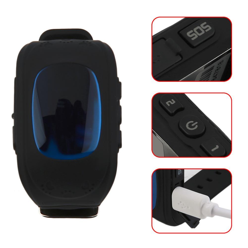 Q50 Reloj inteligente para niños Niños LCD GSM GPRS Localizador Rastreador Asistencia telefónica anti-perdida Reloj de niños para iOS Android sin GPS
