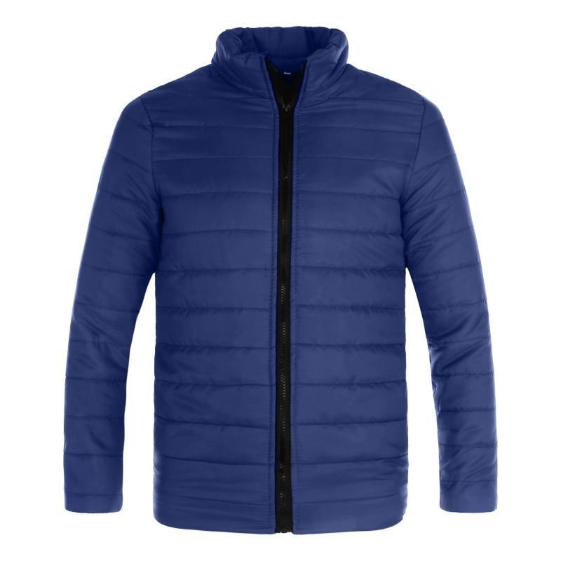 2018 Fashion Men Thin Winterjacke Mäntel Baumwolle gefütterte beiläufige Windjacken Parkas Jacken Male Jacke Snowcoats
