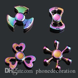 Fidget Spinner Rainbow Main Spinners Tri-Fidget Metal Edc Gyro Dragon Wings Eye Doigt Toys Spinning Top Topspinner