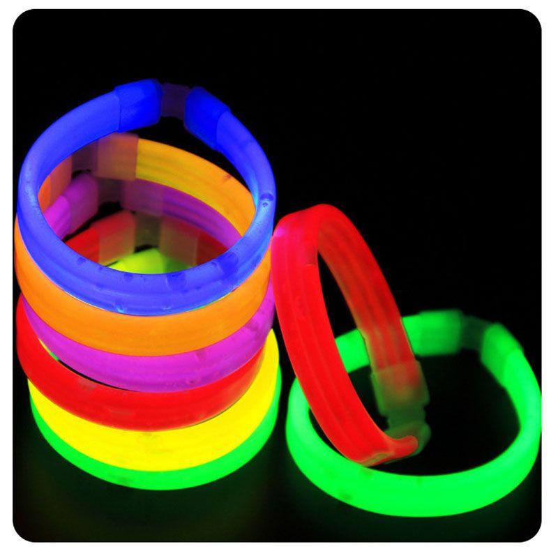 Fluorescence Light Glow Sticks Bracelets Necklaces Halloween Christmas Flashing Toy Wedding Party Decoration