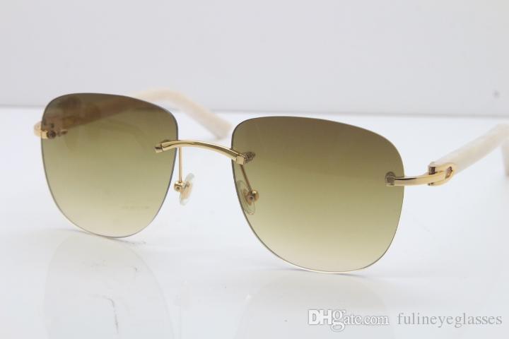 무료 배송 T8200855 인기 패션 남성 선글라스 높은 품질의 새로운 패션 빈티지 선글라스 야외는 C 장식 골드 안경을 운전