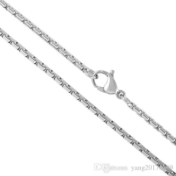 Cadena de acero inoxidable 316L venta caliente de alta calidad 18 20 22 24 pulgadas cadena para la joyería de moda collar
