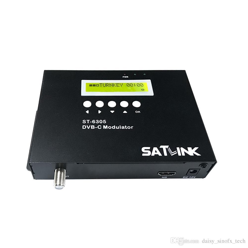 Oryginalny SATLINK ST-6305 DVB-C Modulator HD 1080P MPEG2 ST6305 DVB-C 1 Trasa Modulator Przyjazny dla użytkownika Kontrola