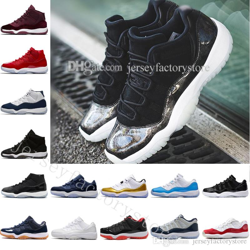 with box high cut New series 11 Velvet Heiress red blue Grey Suede Basketball Shoes Men Spaces Jams 11S XI Sports Shoes US 5.5-13 Eur 36-47