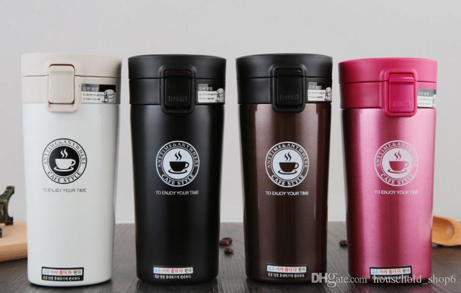 380 ml caneca thermo copo de café com tampa de aço inoxidável Thermocup viagem ao ar livre de vácuo copo de água garrafa de água