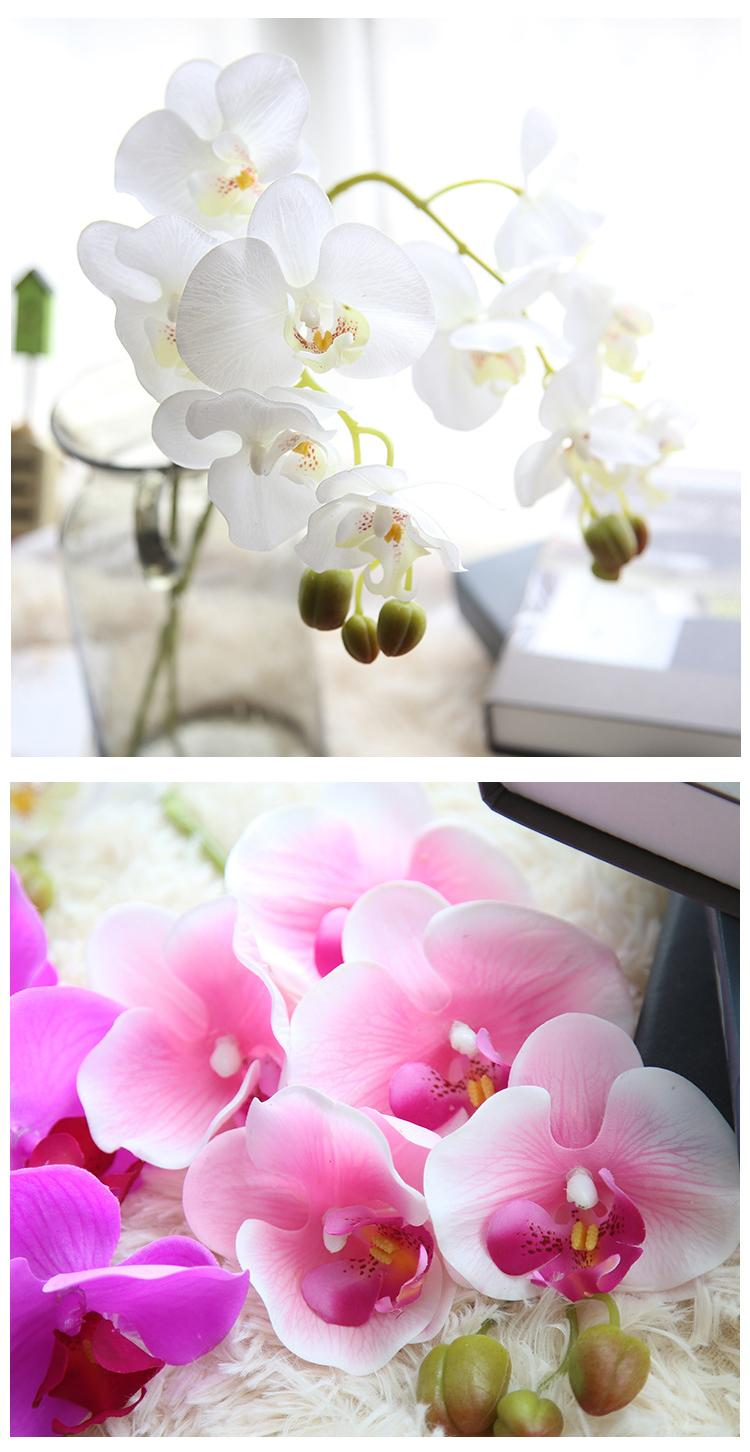 2018 Artificial Orchid Flowers Real Touch 5 Heads For Wedding Party ...