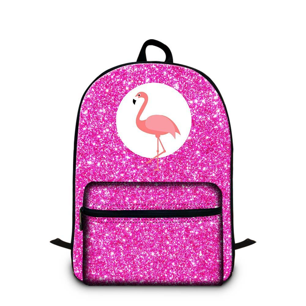Flamingo Animal Prints Backpacks For 14 Inch Laptop Unisex Lightweight School Bags Women Men Outdoors Travel Knapsack Children Canvas Rugtas
