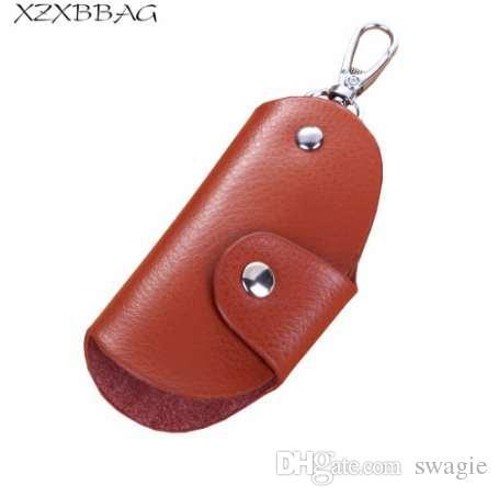 Xzxbbag мода натуральная кожа молния ключевые кошельки унисекс ключевой держатель организатор мужчины ключ автомобиля экономка женщины брелок сумка