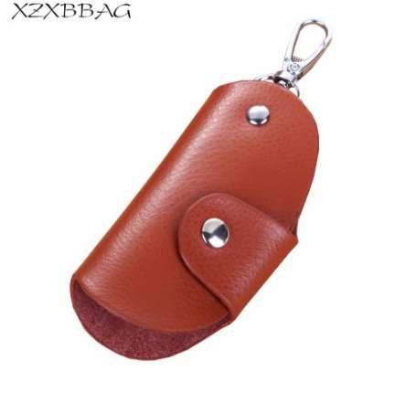 XZXBBAG Moda Vera Pelle Con Cerniera Portafogli Chiave Unisex Key Holder Organizer Uomini Auto Chiave Governante Donne Portachiavi Borsa