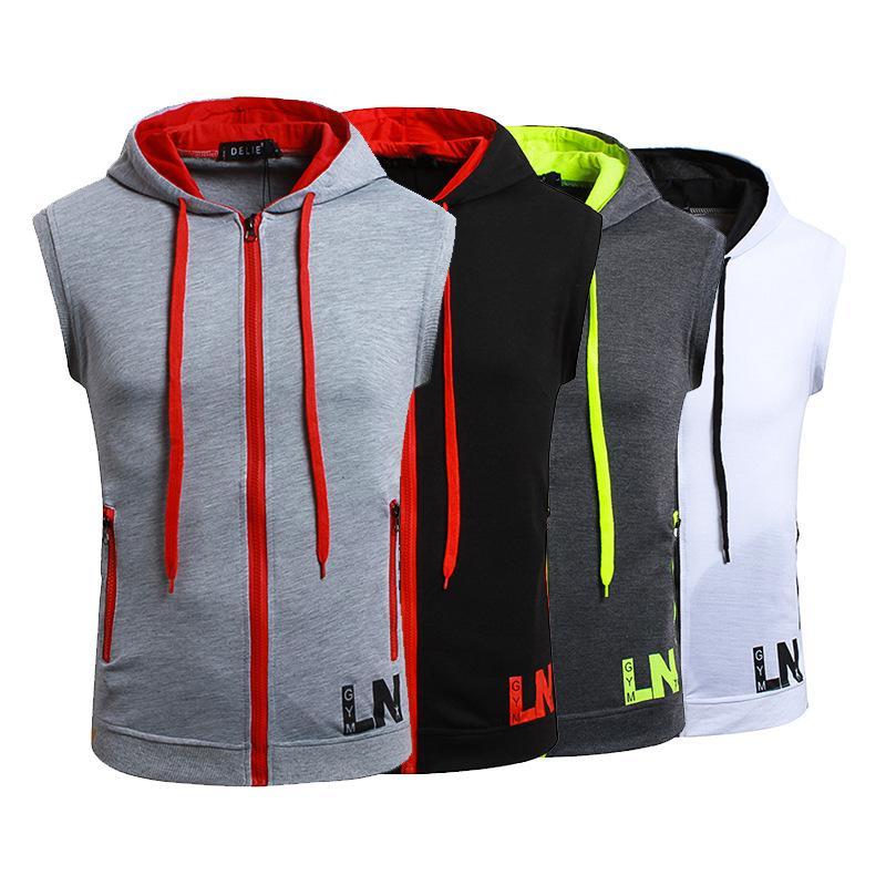 2018 costume d'été à capuche veste à capuche imprimé gilet sans manches pour hommes dos de la chemise de base été un arde t shirt vêtements