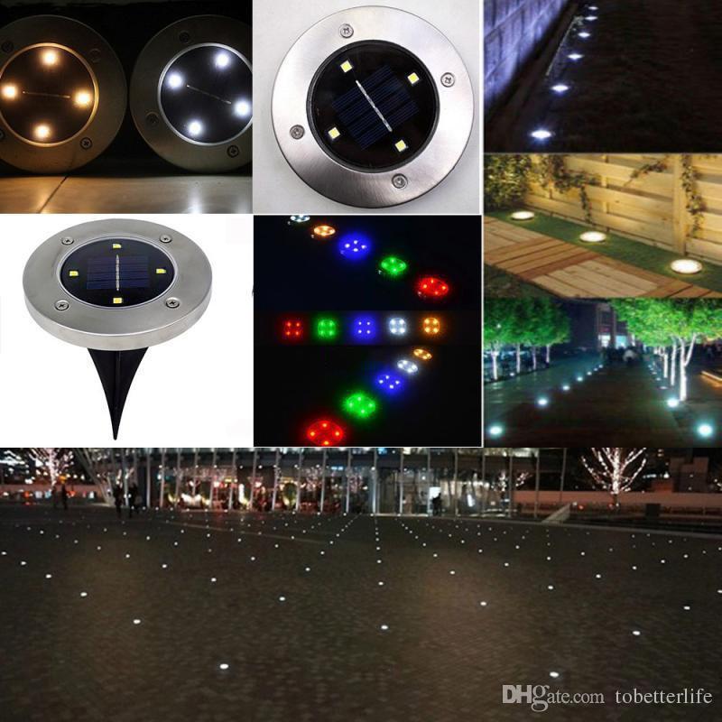 IP65 Wasserdicht 2led 4led 8LED Solar-Erde im Freien Lampe Landschaft Rasen Yard Treppen erdverlegte Nachtlicht-Hausgarten-Dekoration