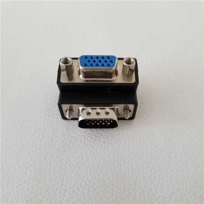 90 Grad herauf Winkel 15Pin VGA SVGA HDB15 männlich zu weiblicher M / F-Konverter-Adapter-Buchse