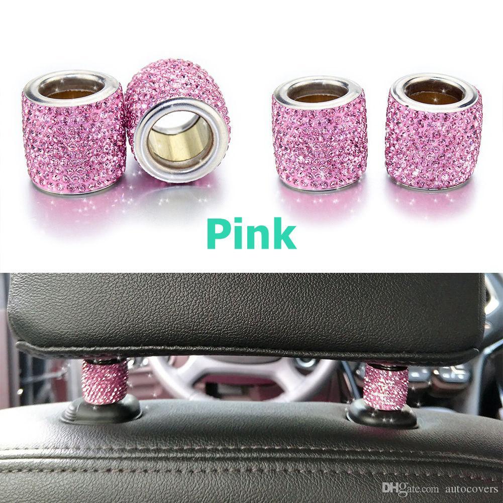 Acessórios de Interior de carro 1 Peça Icy Cristal Titular Do Assento de Carro Decoração Para As Mulheres Do Carro Bling Para O Assento de Strass para Encostos De Encosto De Cabeça