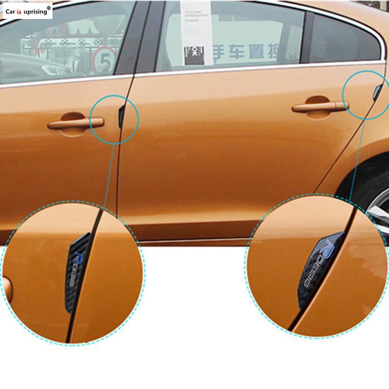 4PCS Carbon Fiber Car Door Edge Bumper Strips Protector B Pillar Stickers for Volvo XC60 XC90 S60 V70 S80 XC70 V40 S40 V50 S90