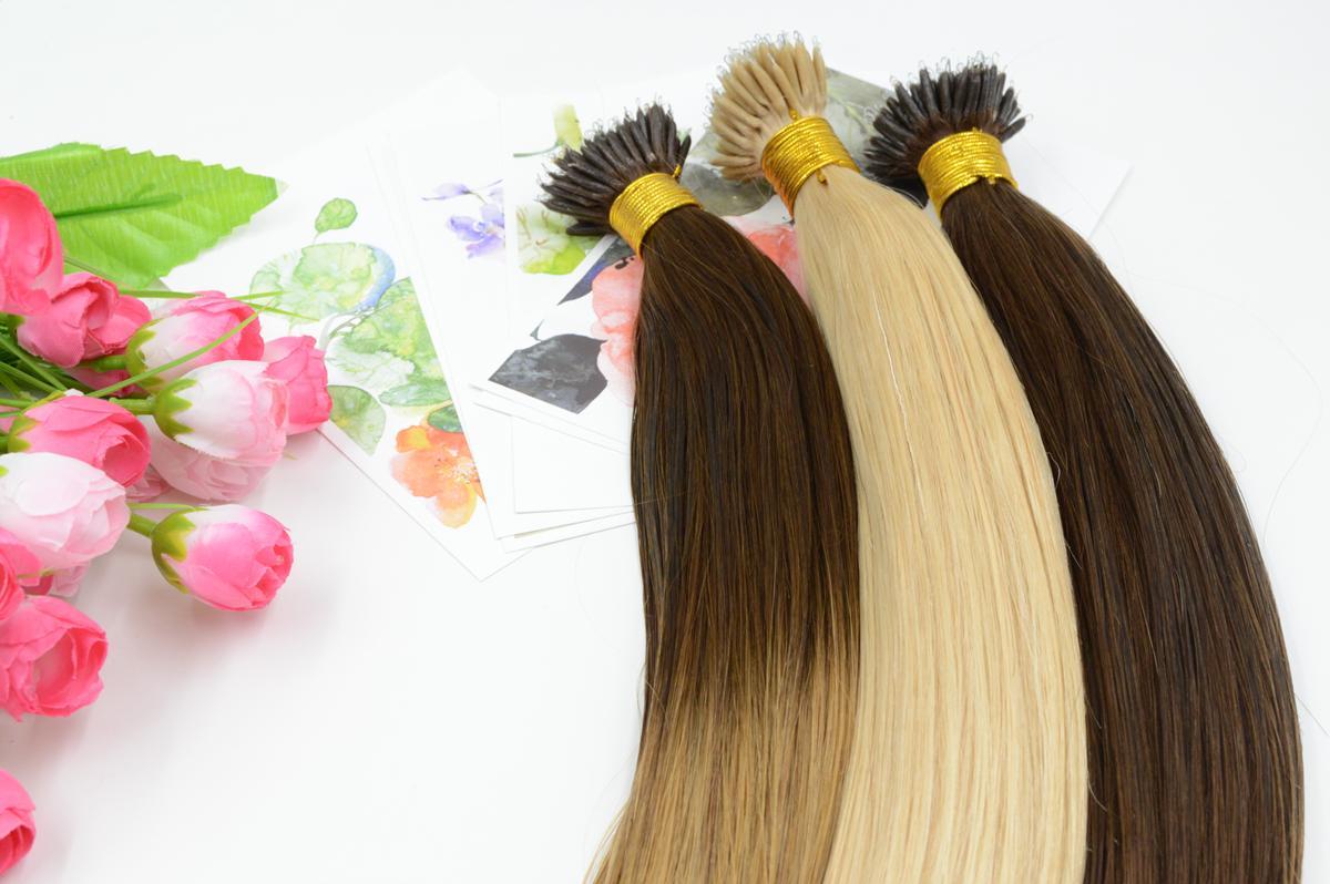 XCSUNNY Stock Extensions de cheveux vierges avec anneau indien nano 18 Extensions de cheveux avec anneau nano Ombre de 20 pouces 100gram Remy cheveux NOUVEAU!
