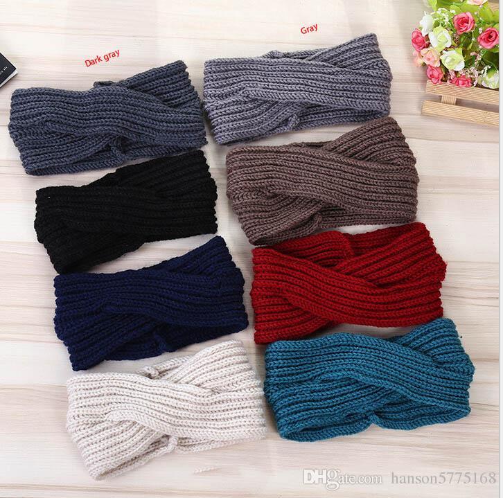 Compre Mujer Ganchillo Diadema Knit Hairband Ear Warmer Head Wrap ...