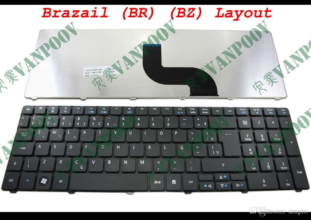 لوحة مفاتيح للكمبيوتر الدفتري جديدة لأجهزة Acer Aspire 5536 5536G 5738 5810 5810T 7735 5336 5410 5252 5742G 5742Z Black Brazil BR verion - NSK-AL00B