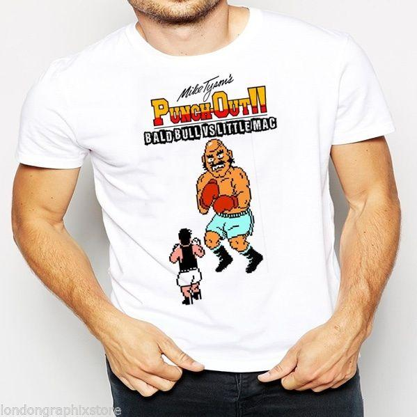HOODIE BOXING NES MIKE TYSON PUNCHOUT T-SHIRT VIDEOGAME TANK TOP RETRO