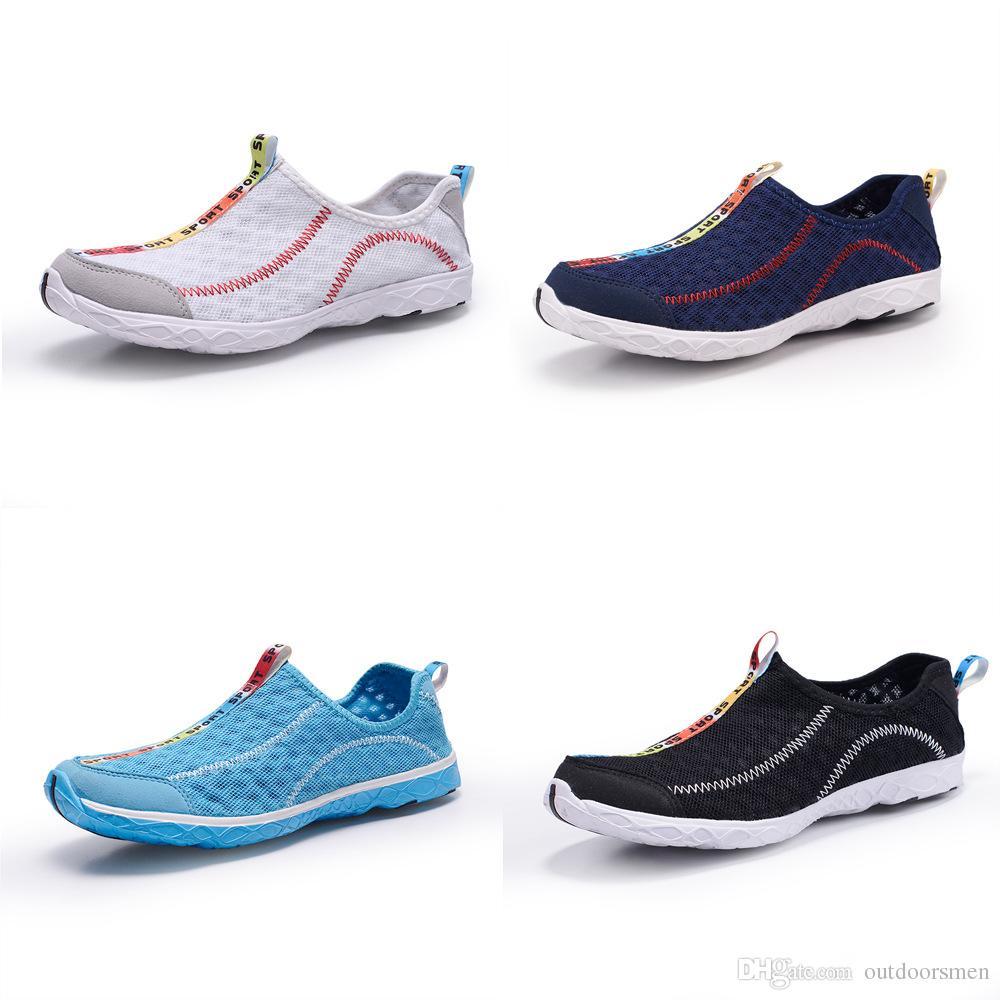 2017 Hommes et Femmes Chaussures Aqua En Plein Air Respirant Chaussures De Plage Léger À Séchage Rapide Chaussures De Guêtette Sport Eau De Camping Baskets
