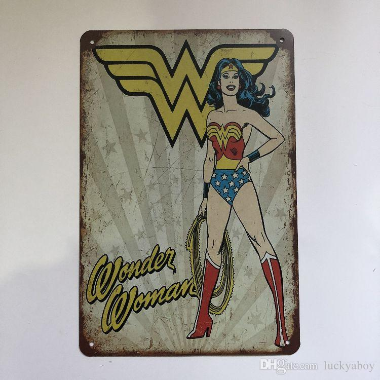 New Design Wonder Woman Vintage Rustic Home Decor Bar Pub Hotel Restaurant Coffee Shop home Decorative Metal Retro Metal Tin Sign