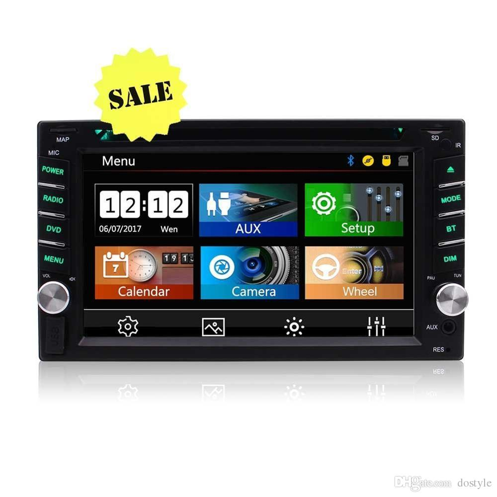 Backup camera+2 din autoradio in dash car DVD CD player headunit double din gps navigation radio stereo auto tactic car pc radio