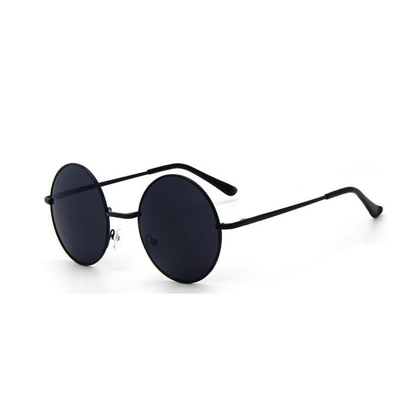 Retro Vintage Preto Prata Gótico Steampunk Rodada Óculos De Sol De Metal para Mulheres Dos Homens Círculo Espelhado Óculos de Sol Masculino Oculos