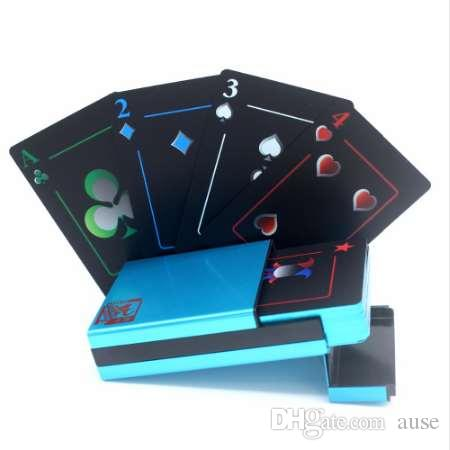 New Arrive Aluminum/Plastic Metal Box Gilding Edge Plastic PVC Poker High Quality Collection Gift Durable Playing Cards