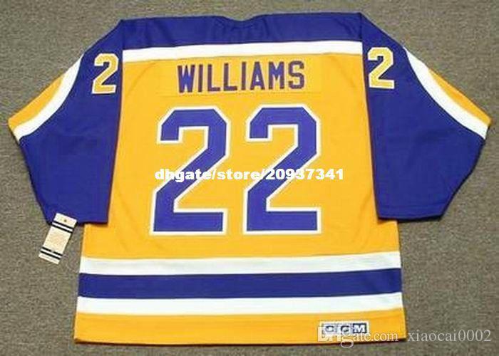 Оптовая мужская TIGER WILLIAMS Los Angeles Kings 1986 CCM Vintage Home дешевые ретро хоккей Джерси