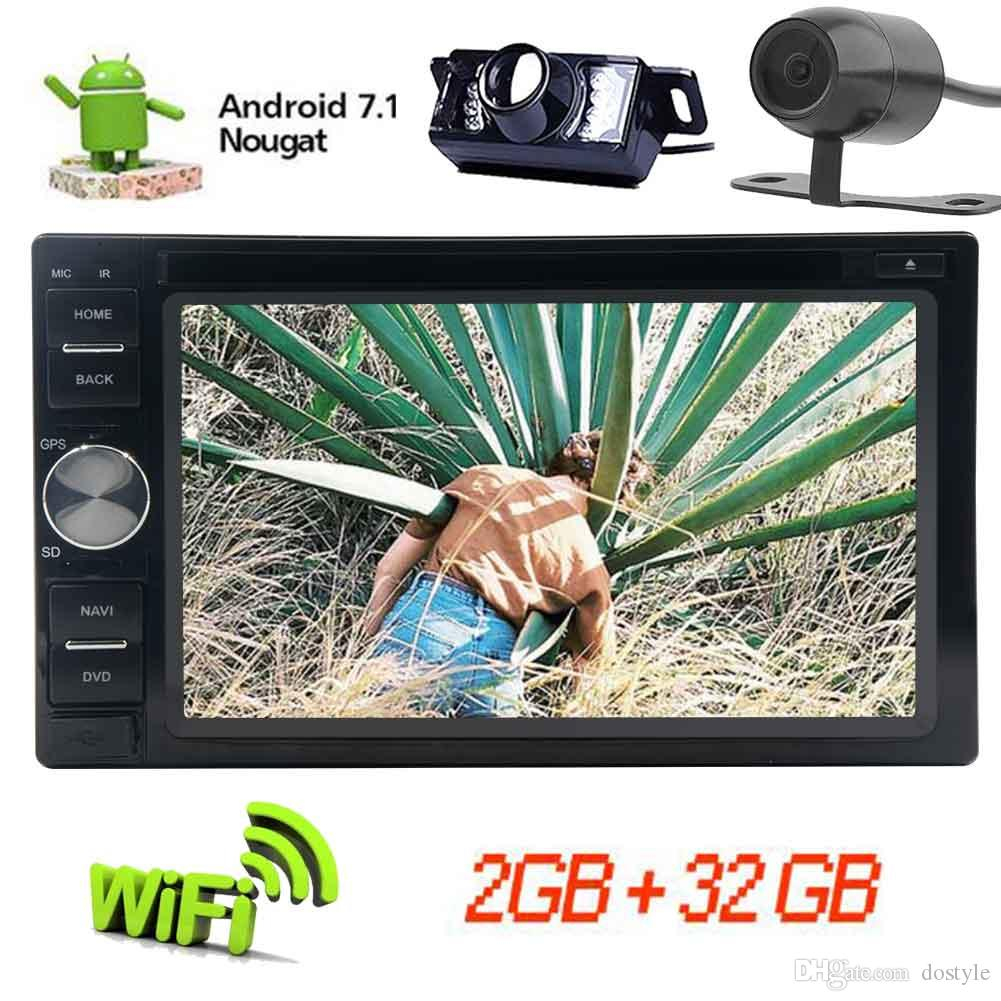 Doble Din EinCar Android 7.1 OCTA Core Car DVD Player 6.2 '' 1024 * 600 Car Stereo GPS Navigation In Dash Bluetooth Radio del vehículo