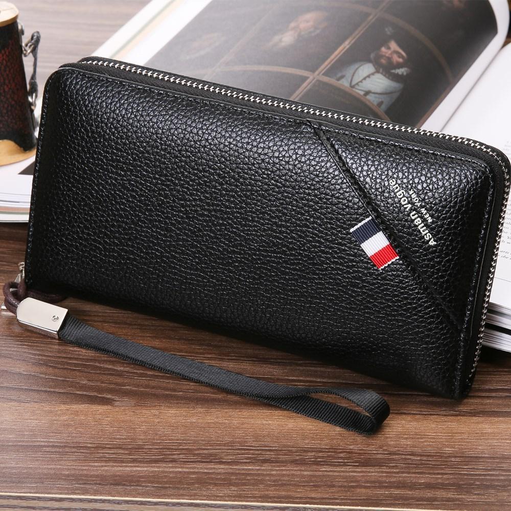 Fashion Luxury Male Leather Purse Men/'s Clutch Wallet Bag Business Mujer Wallets
