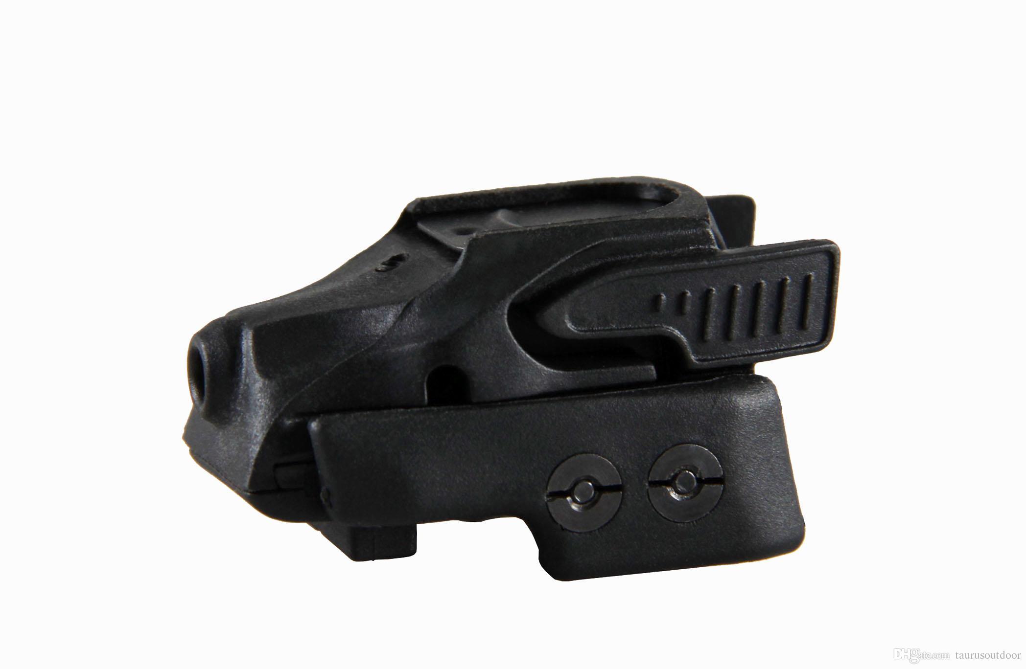 Visée laser rouge Crimson Trace CMR-201 Rail Master Sight avec mini-monture universelle pour pistolet pour chasse
