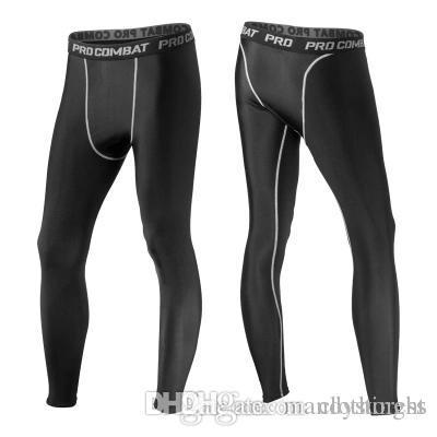 Calças de compressão dos homens esportes correndo calças justas de basquete calças de ginástica fisiculturistas corredores leggings calças skinny comprimento total frete grátis