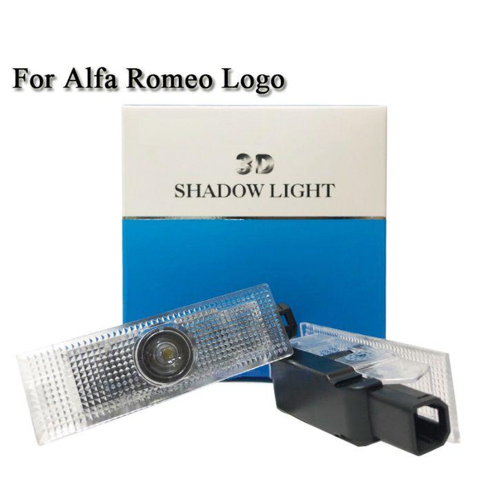 2 pcs courtoisie Lampe Pour Alfa Romeo LED De Porte De Voiture Bienvenue Lumière De Porte De Voiture Logo Projecteur fantôme Laser ombre Lampe Pour Alfa Romeo 159